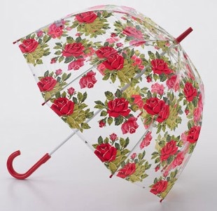 Cath Kidston Birdcage Clear Dome Umbrella by Fulton in Royal Rose White – Umbrellaworld