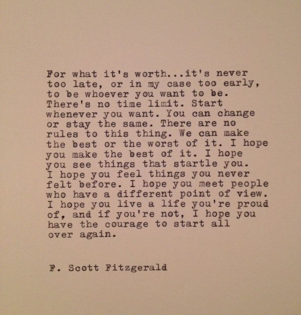 F. Scott Fitzgerald Quote Made On Typewriter by farmnflea on Etsy, $12.00