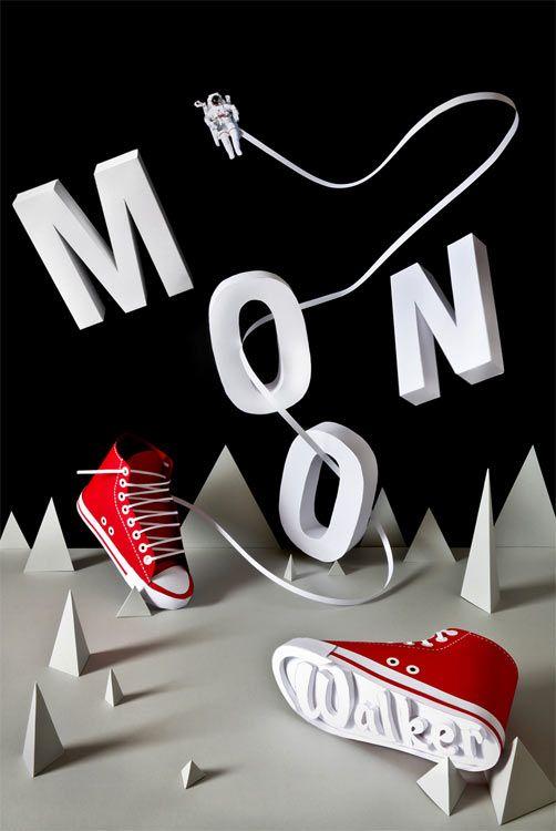 Florian Morelet and Aurélien Juner: Moon Walker Paper Art (via @Tad Carpenter)
