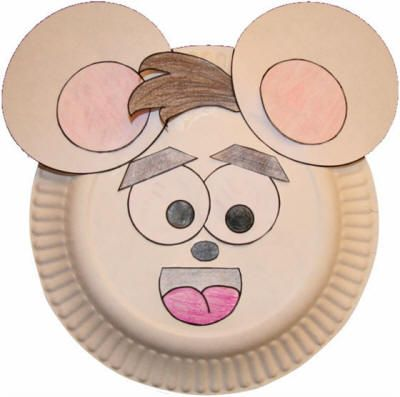 Paper Plate Mouse Craft  sc 1 st  Pinterest & 101 best Paper Plate Crafts images on Pinterest | Paper plates ...