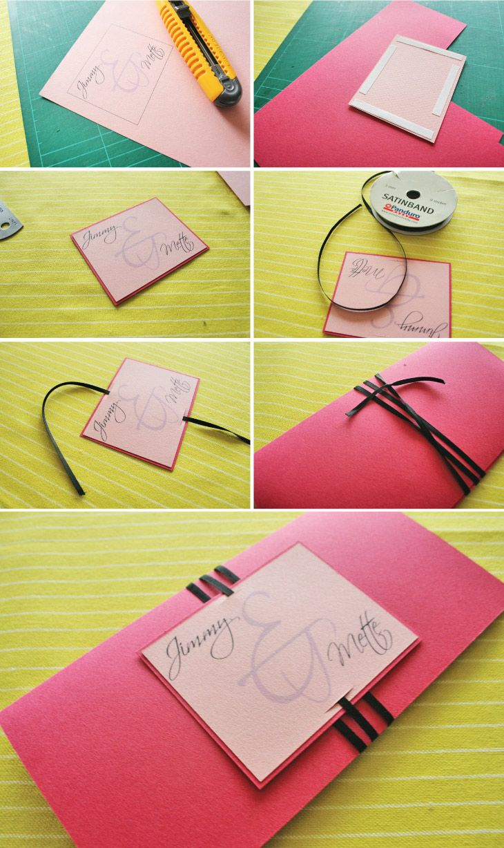 DIY wedding invitation - other colours !!!