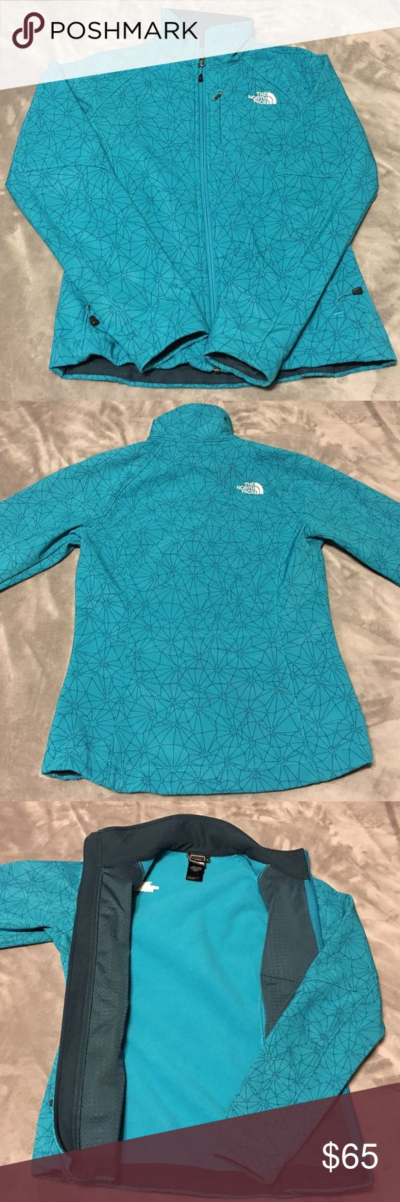 Aqua blue North Face jacket XS Excellent condition, fleece lined lightweight jacket. Gently worn, no signs of wear. Shipping days are Tuesday through Friday. North Face Jackets & Coats Trench Coats