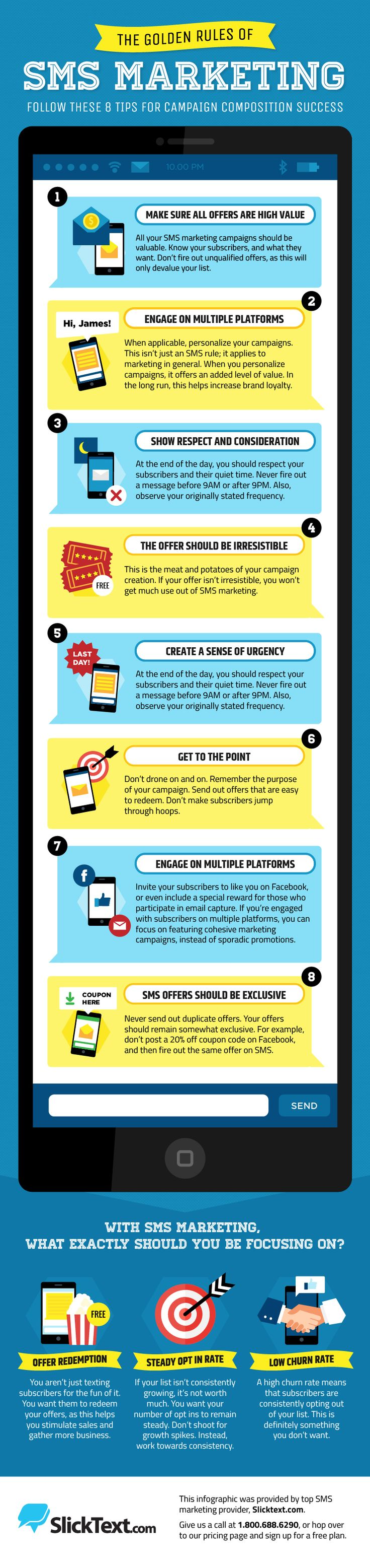 The Golden Rule of SMS Marketing #Infographic #Marketing