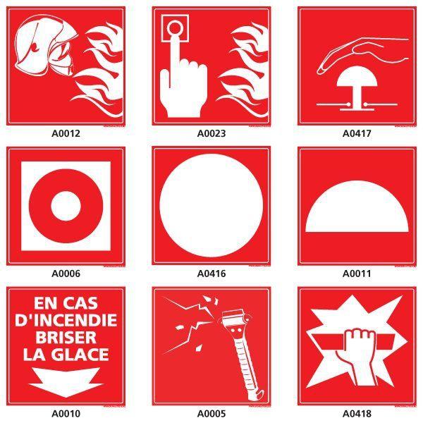 Pictogrammes sécurité lutte incendie