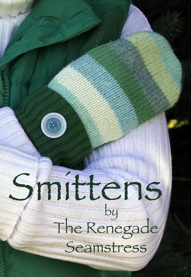 Sweater Mitten Tutorial | Mittens, Sewing projects and
