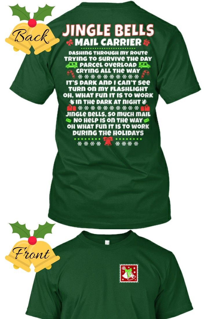 Jingle Bells Mail Carrier Style Christmas Shirt Makes A Great