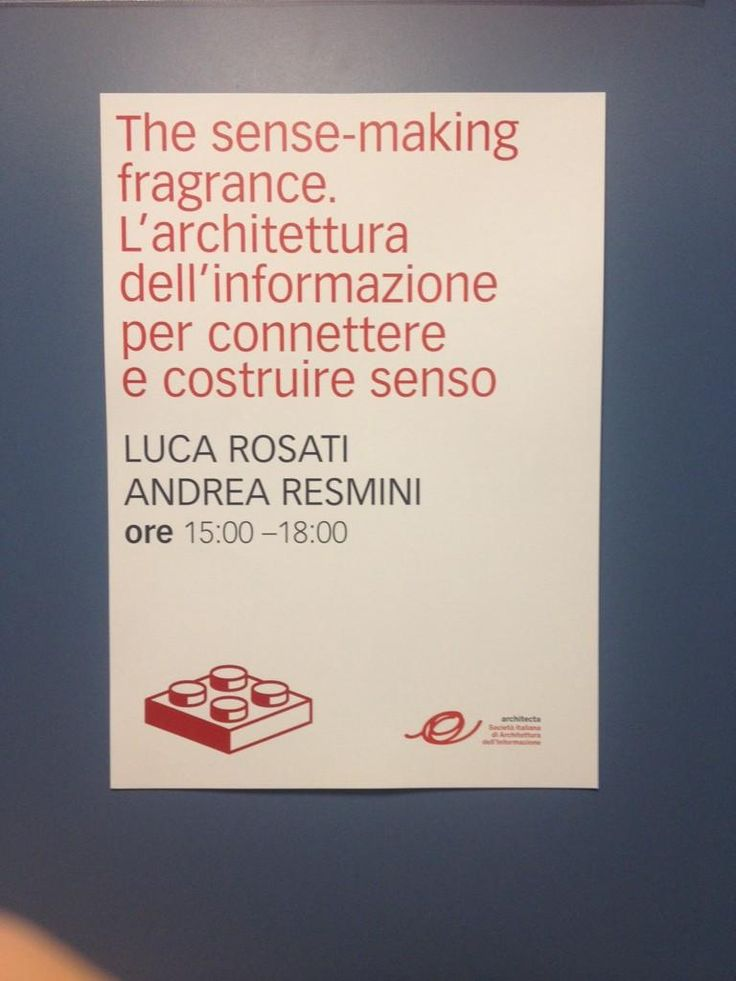 The sense-making fragrance. Building relationship and storytelling through information architecture.