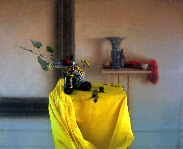 «Желтая ткань» (2002), Daniel Sprick (американский, 1953) масло; 30 x 36 в https://www.facebook.com/daniel.sprick http://www.danielsprick.com/
