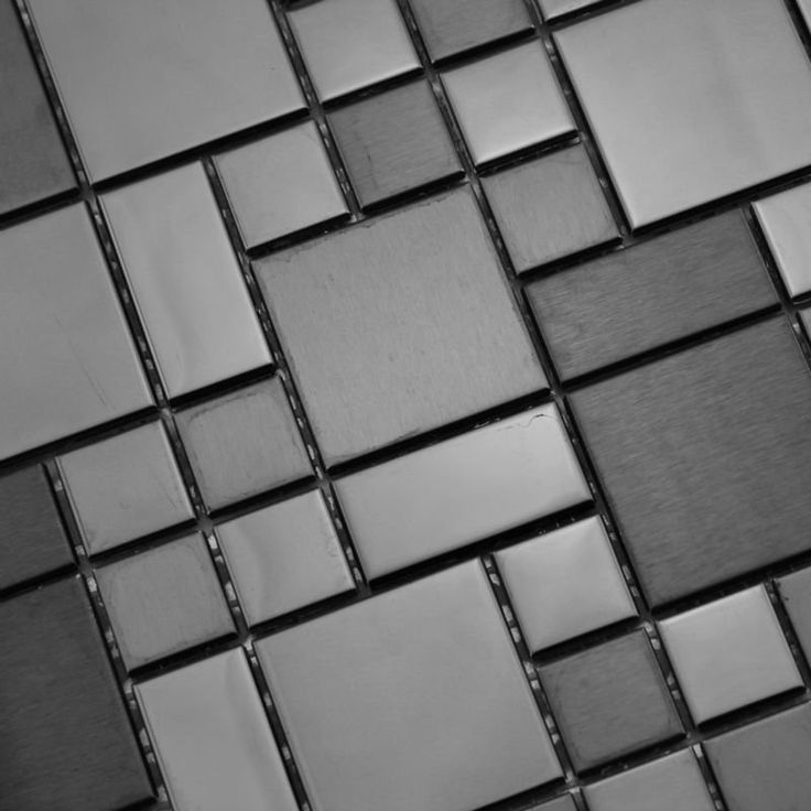 Mosaic Tile Mirror Sheets Brushed Stainless Steel Supplies Deco Mesh Kitchen Backsplash Floors Bathroom Shower