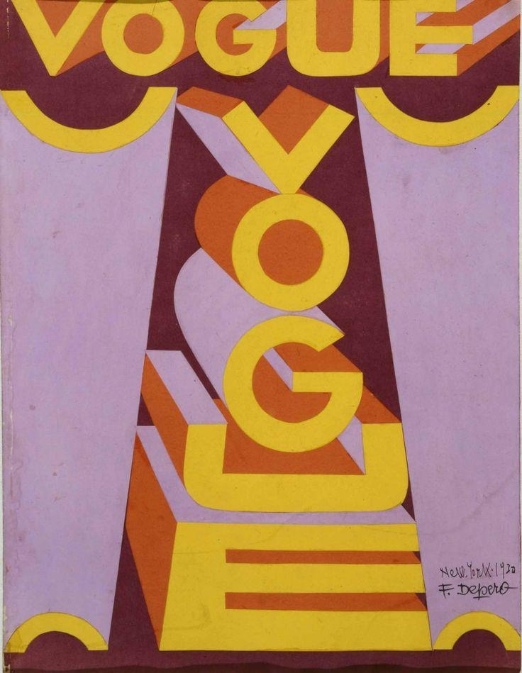 Depero - Bozzetto di copertina per Vogue