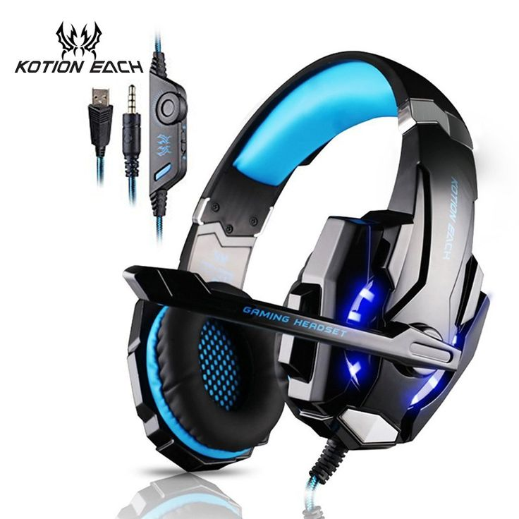 Sale US $18.99  KOTION EACH Gaming headphone Earphone Gaming Headset Headphone Xbox One Headset with microphone for pc ps4 playstation 4 laptop  Get here: Tablet PC