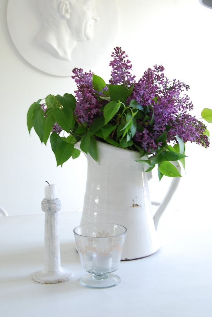 108 Best Pitchers With Flowers Images On Pinterest