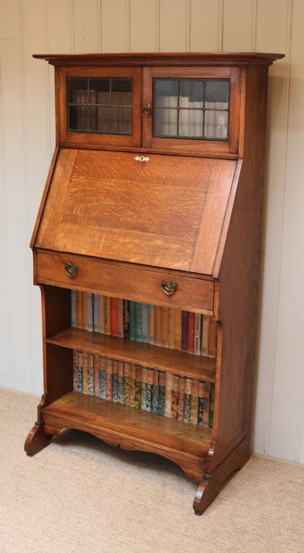 Arts and crafts bureau - Small Proportioned Arts And Crafts Bureau Bookcase 424541 Sellingantiques Co Uk