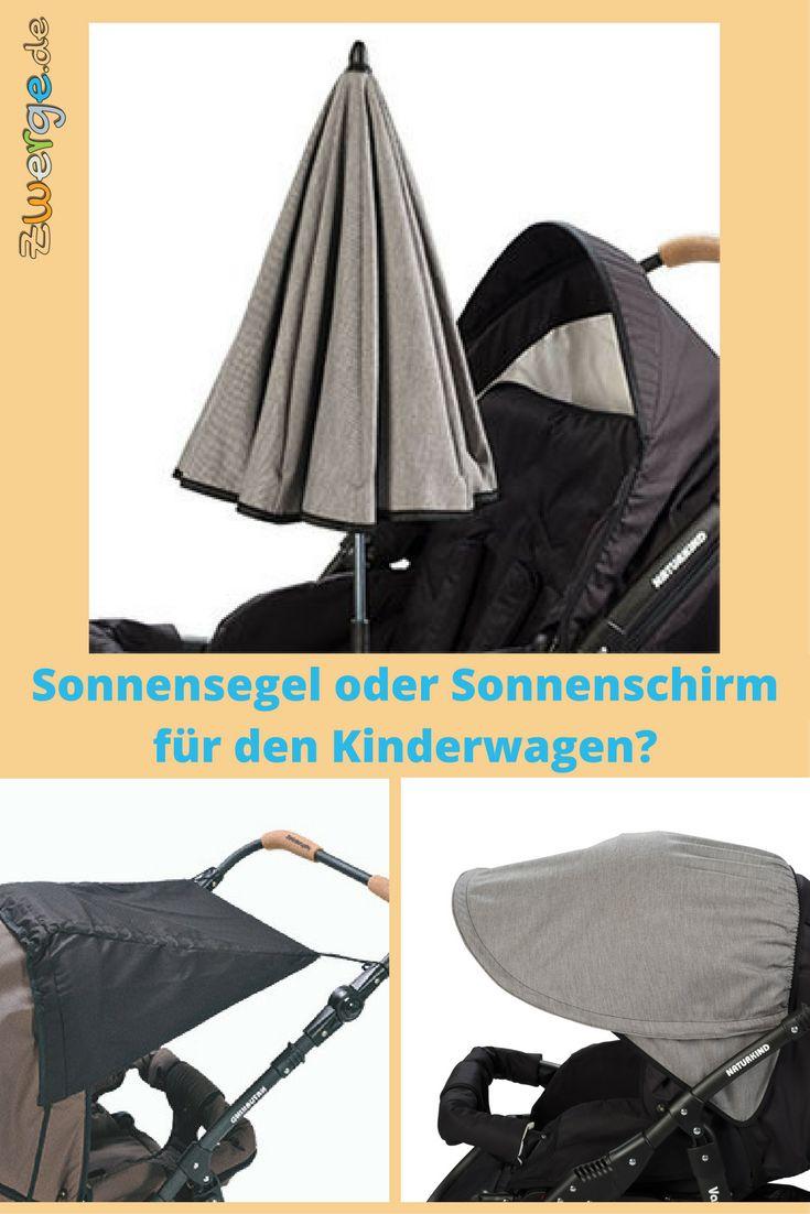 Ist ein Sonnensegel oder ein Sonnenschirm am Kinderwagen der bessere Sonnenschutz? Mit vielen Detailbildern erleichtern wir Euch die Entscheidung.