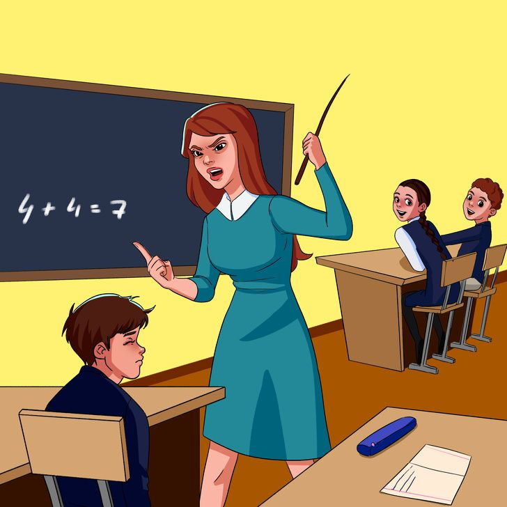 картинка как учитель ругает ученика настолько хрупкий
