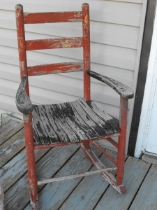 Old Wooden Rocking Chair Before