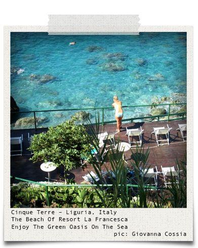 Cinque Terre - Liguria, Italy (pic: Giovanna Cossia via www.hiddentreasures.ch)