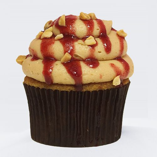 Peanut Butter and Jelly Cupcakes | Food...Sweet Cakes | Pinterest