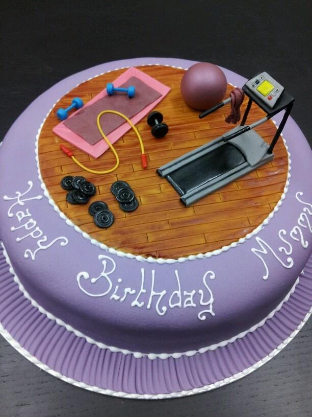 Gym Cake Sports Party Gym Cake Fitness Cake Cake