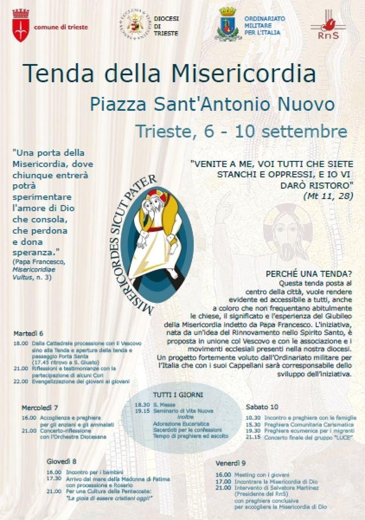 Rinnovamento nello Spirito, a Trieste la Tenda della Misericordia fino al 10…