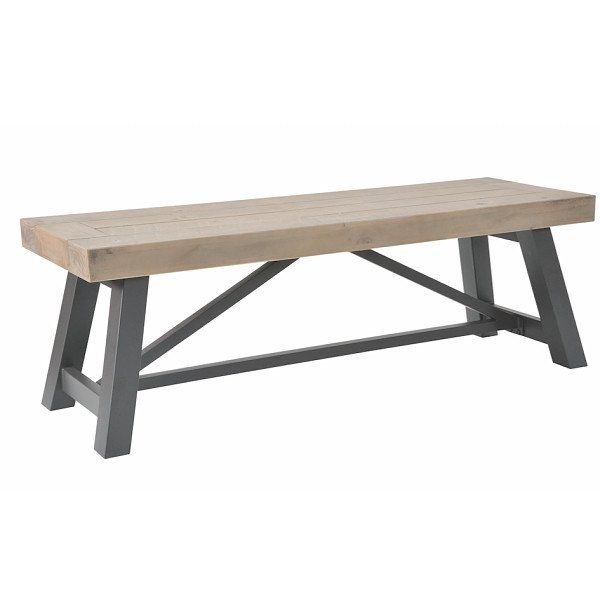 Industrial Lowry Reclaimed Wood Bench