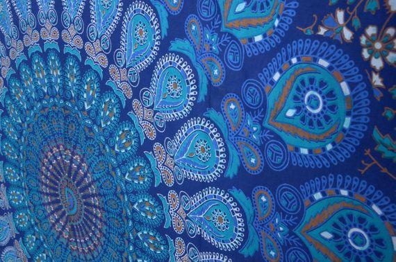 Mandala Wandteppiche Wandteppich Wandbehang Hippie von THEWALLARTS