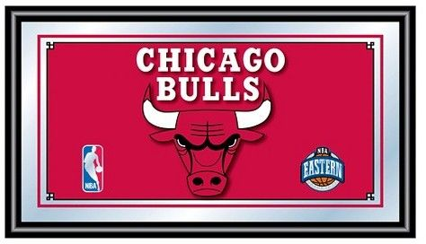 NBA Chicago Bulls Team Logo Wall Mirror