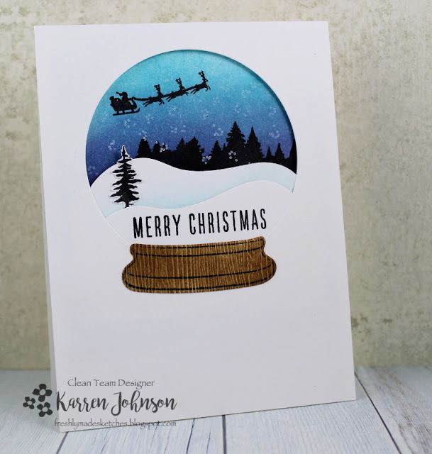 KarrenJ - Stamping Stuff: Snowglobe | merry christmas