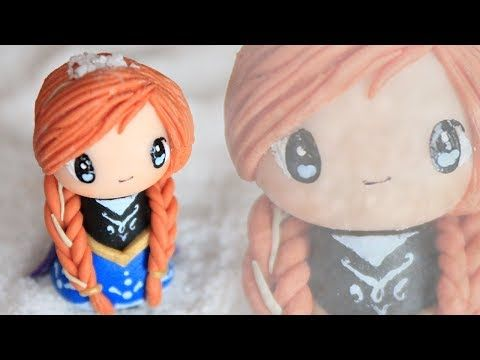 Anna from Frozen Chibi Polymer Clay Tutorial