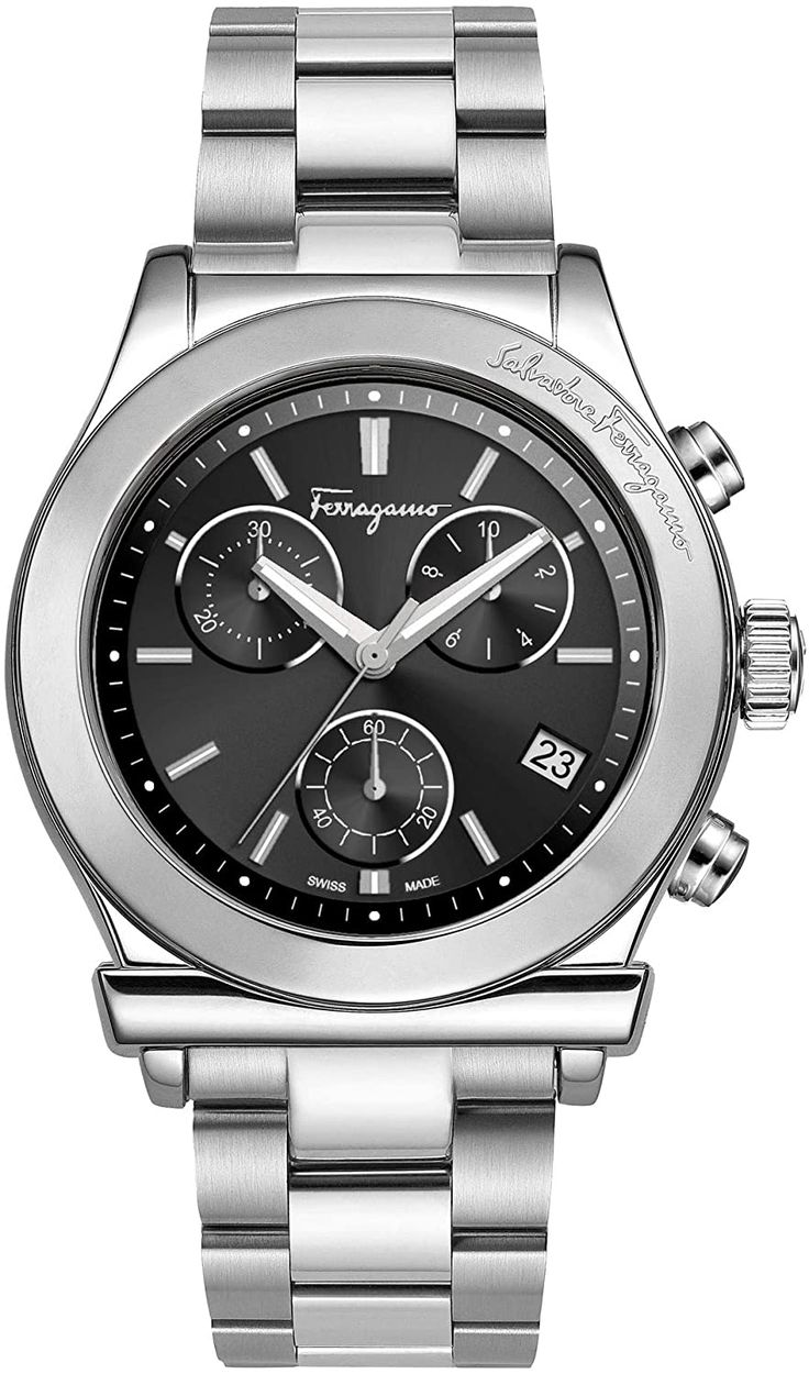 Salvatore Ferragamo 1898 Chr Spec Black Watch in 2020
