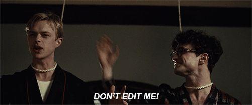 "Kill Your Darlings - ""Don't edit me!"" / Dane DeHaan as Lucien Carr"