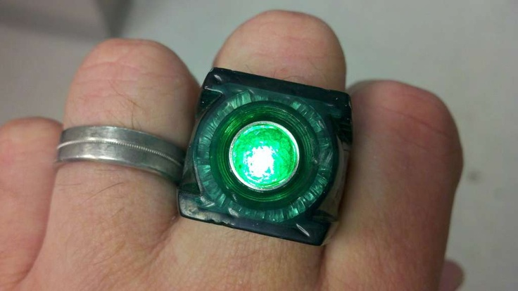 Mod your green lantern movie ring and make it glow