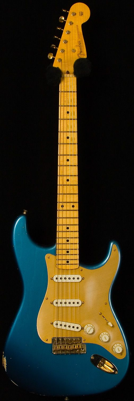 fender custom shop - 56 stratocaster relic. faded lake placid blue.