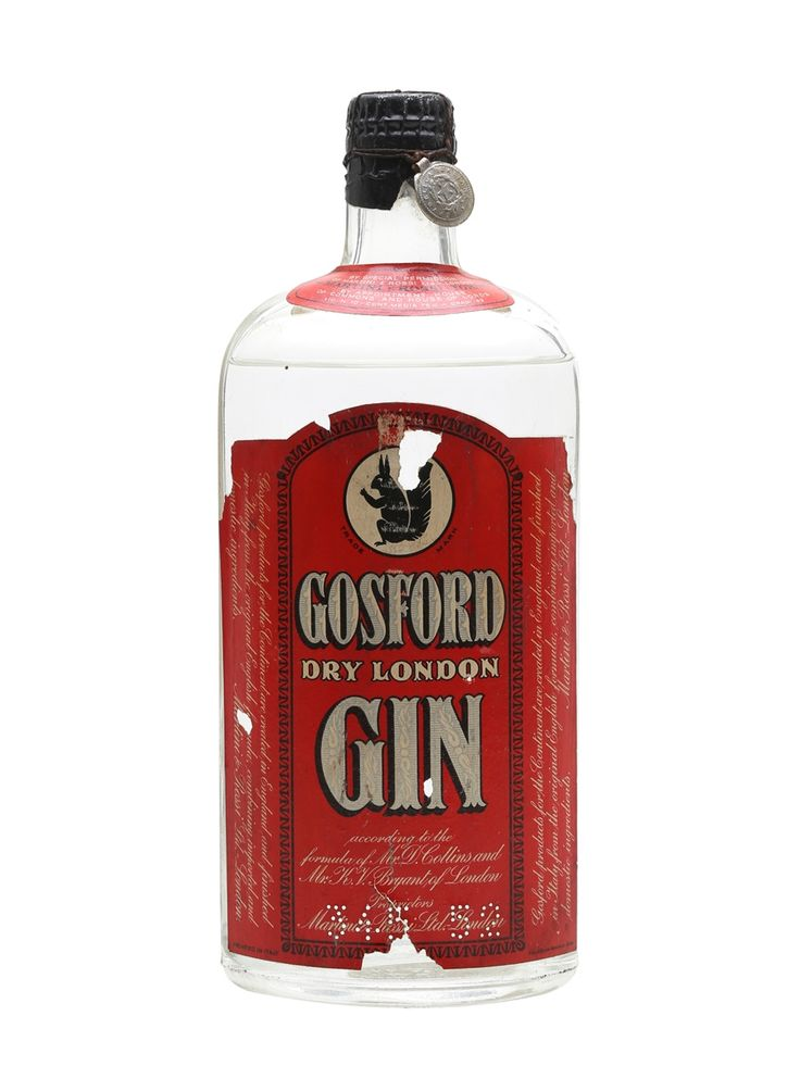 Bosford Dry London Gin Bot.1950s 75cl / 42% A bottling of Dry London Gin from Bosford, distilled in Italy for Martini & Rossi in the 1950s