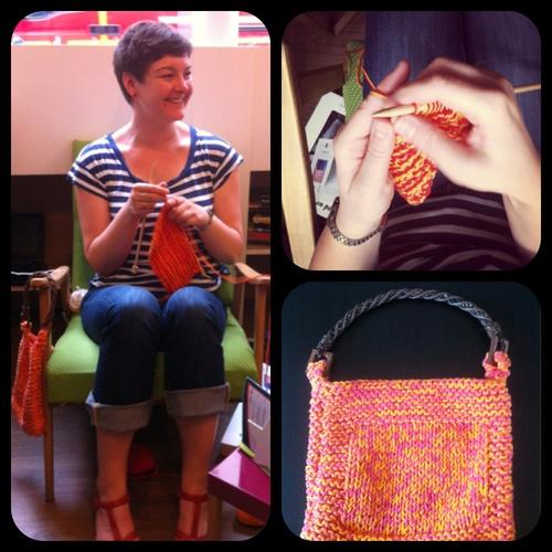 "Rosa et son sac à main WoolKiss ""L'été est là!"" - Rosa and her WoolKiss handbag ""Summer is here"""