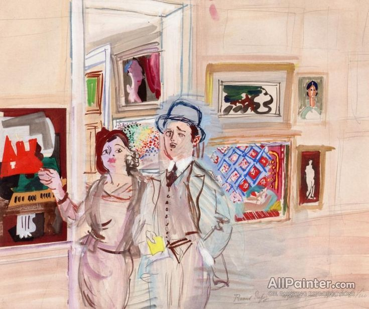 Raoul Dufy,The Painter's Salon oil painting reproductions for sale