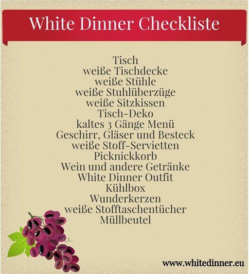White Dinner Checkliste #whitedinner #checkliste #dinerenblanc #weissedinner #life #love #moments
