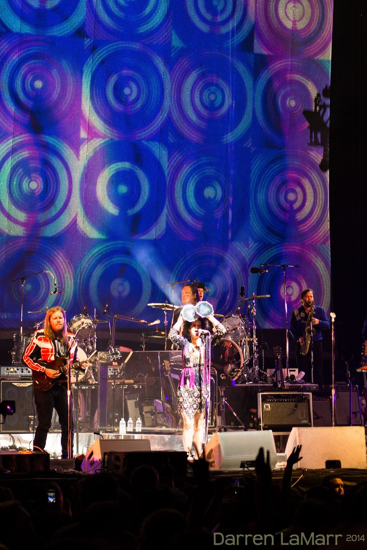 Arcade Fire - reginechassagne and Tim Kingsbury This from their August eighth Reflektor concert at The Gorge in Washington.