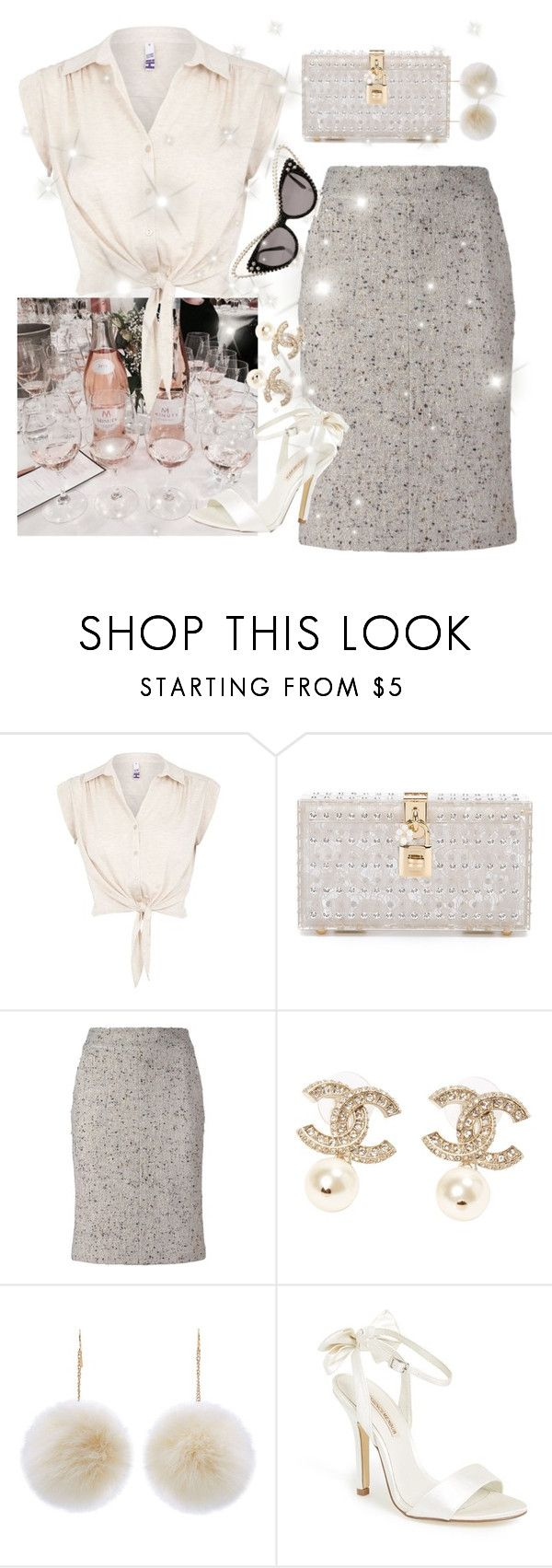 """""""Chanel so glam"""" by faanciella ❤ liked on Polyvore featuring H! by Henry Holland, Dolce&Gabbana, Chanel, New Look, Menbur and A-Morir by Kerin Rose"""