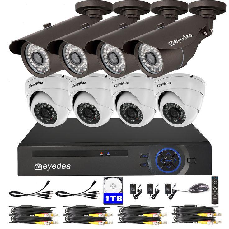 Eyedea 8CH 1080N 3500TVL HDMI DVR Motion Detect CCTV Security Cameras System 1TB #Eyedea