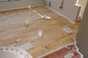 Installing Plywood Flooring Over Concrete- any homes today are built over a concrete slab, rather than a full basement. While a basement is nice to have, it's an added expense that many first-time homeowners just can't afford. But when they want to upgrade their home later on, that concrete slab can be a problem. One way it is a problem is for installing hardwood flooring. Before hardwood flooring is installed over concrete, a plywood subfloor must be installed.