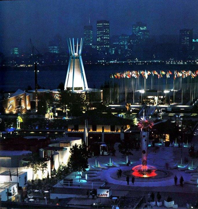 Expo at night
