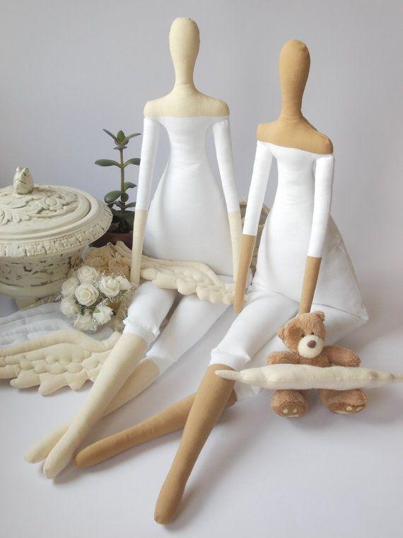 Tilda κούκλα ΣΩΜΑ για crafting- χειροποίητη κούκλα-25 ίντσες tall- Προ-Ραμμένη και Γεμιστές Λευκά Κούκλα Σώμα- συλλεκτικές κούκλες, tildas- σώμα πανί κούκλα