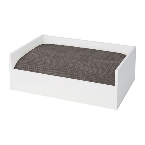 LURVIG Pet bed with pad - white/gray - IKEA