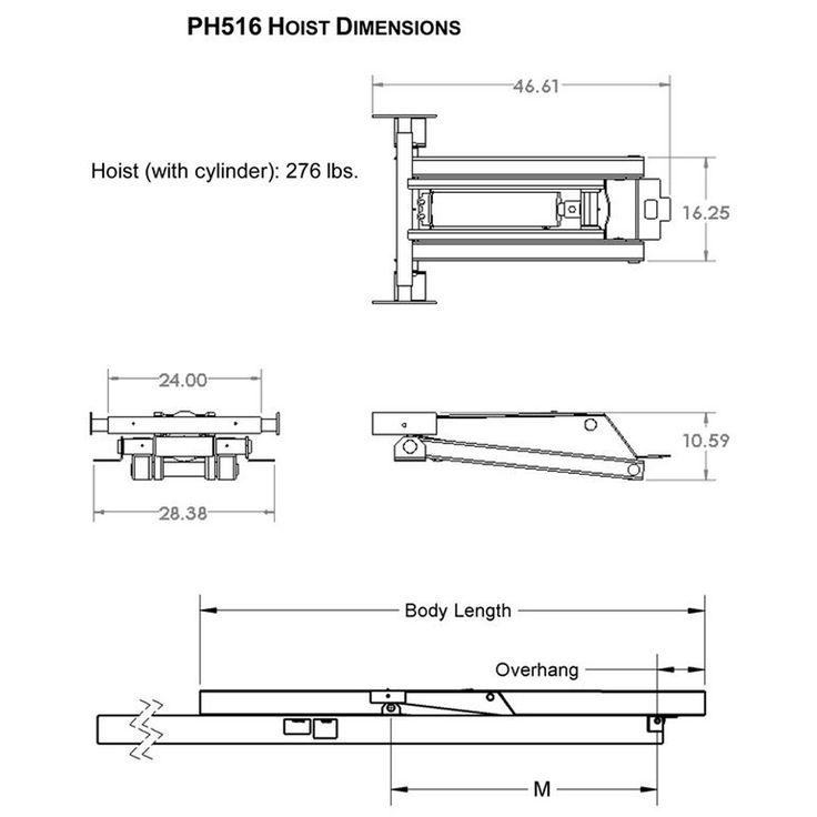 8 Ton (16,000 lb) Dump Trailer Hydraulic Scissor Hoist Kit – PH516 – Johnson Trailer Parts