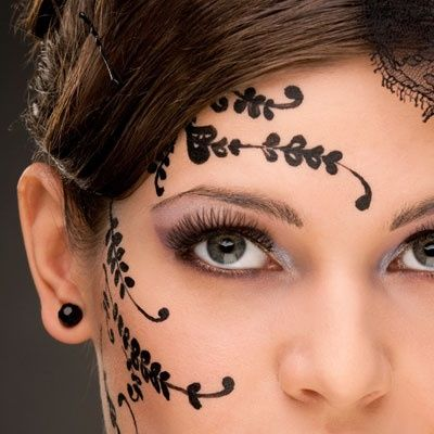 28 best henna tattoo face images on pinterest henna for Face tattoo makeup