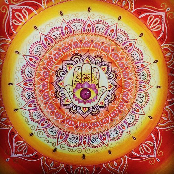 """2 Me gusta, 1 comentarios - Eli Montes (@mandeli_mandalas) en Instagram: """"Mandala mano de jamsa, abundancia, protección y fortuna."""""""