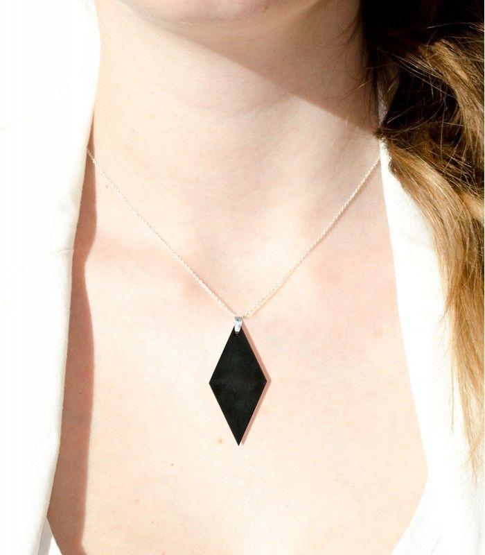 Necklace Simply Black Diamond  #minimalistic #jewellery #jewelry #black #simplyblack #blackjewelry