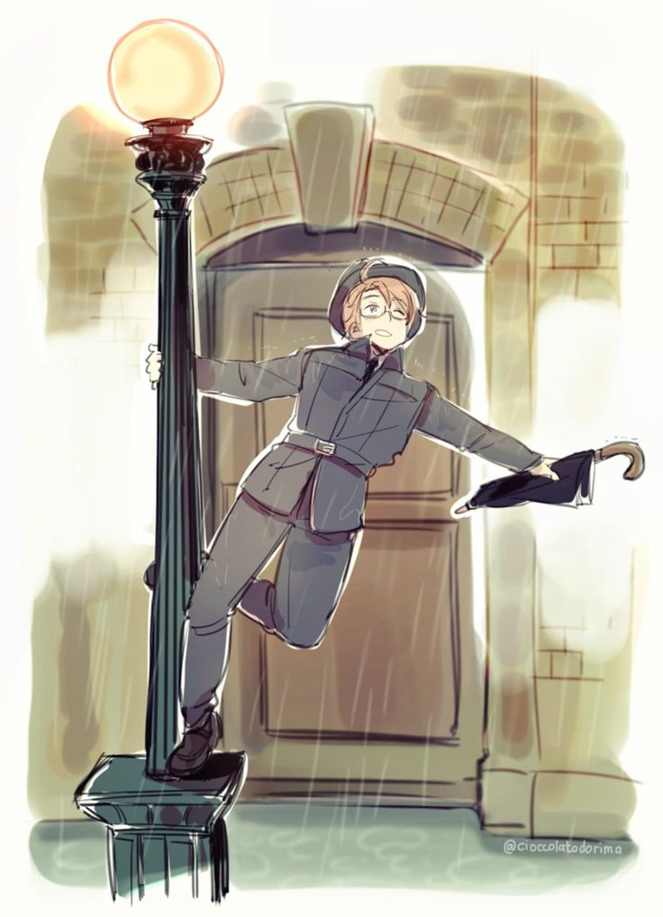 Singing in the rain. Aph America. LOOK AT THIS PERSONS ART WOW