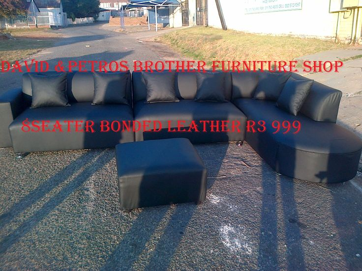 Brand new (Bonded 80% leather )8seater L-shape lounge. It comes with all colour and shapes